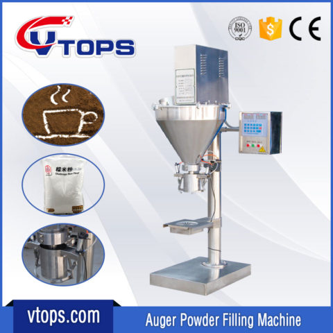 Semi Automatic Powder Auger Filling Machine with Clamp Holding Device