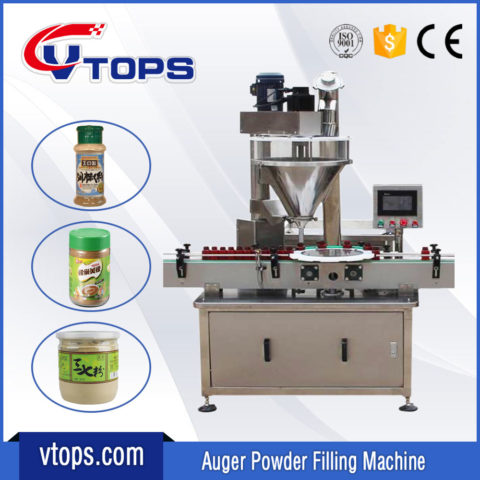 Automatic Powder Filler Machine for Bottles Jars