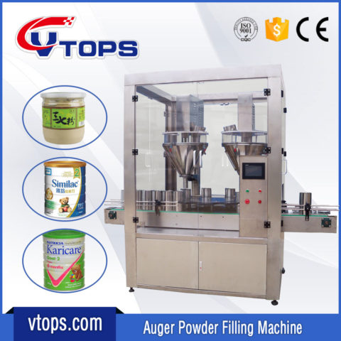 Automatic Powder Filling Machine with Double Auger Fillers
