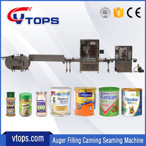 Auger Filling Canning Seaming Machines Line