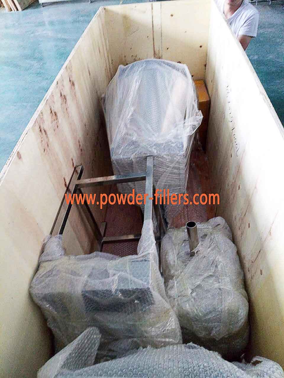 Auger Filler Powder Filling Machine packaging Plywood Boxes