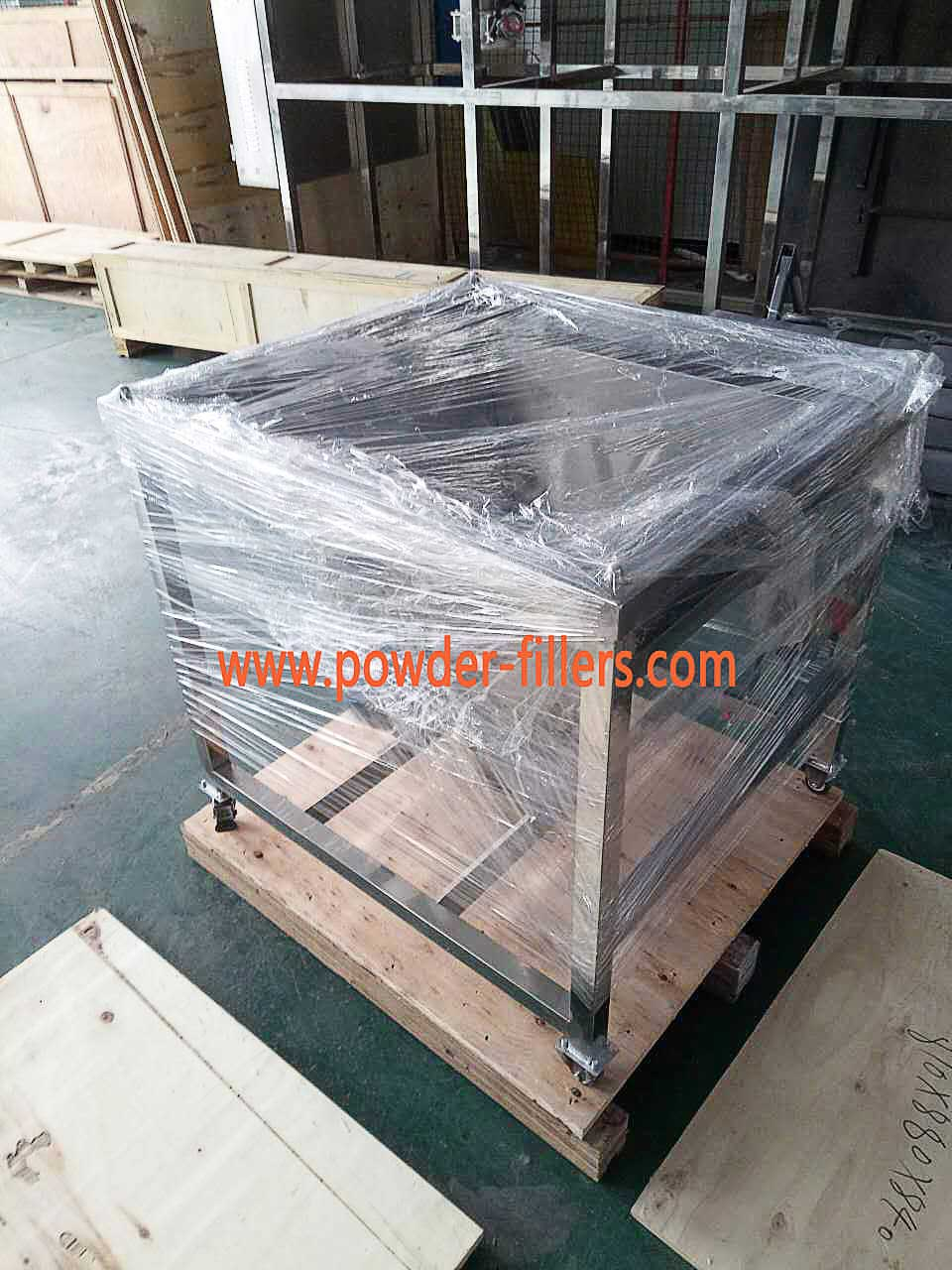 The Hopper of Screw Feeder packaging Plywood Boxes