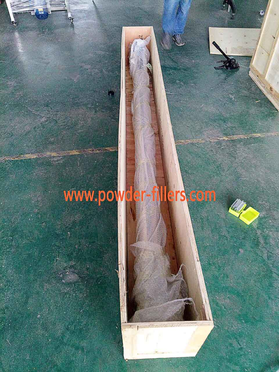The Conveyor of Screw Feeder packaging Plywood Boxes