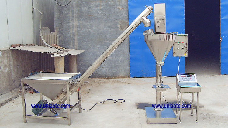 Semi-Automatic Powder Auger Dosing Filling Packing Machine with Screw Conveyor Feeder