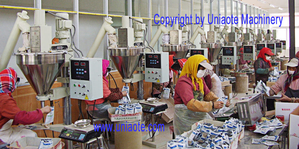 The Scene Photo of Semi Automatic Powder Filling Machine with Auger Filler Tube