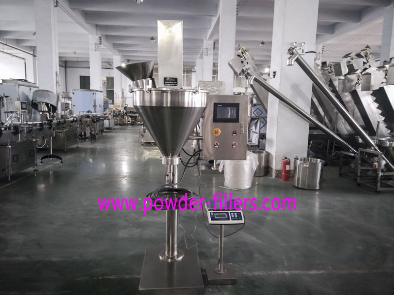 A Customized Manual Powder Filling Machine with Touch Screen
