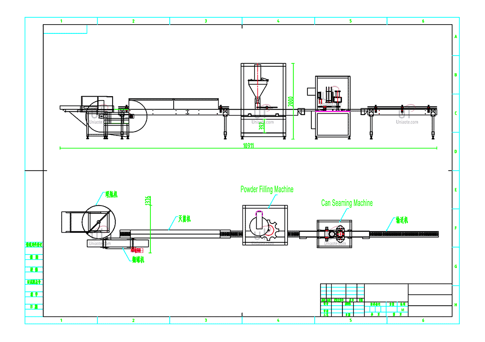 Automatic Milk Powder Canning Line - Copyright by Uniaote Machinery